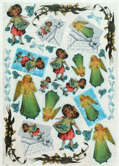 Rice Paper for Decoupage Decopatch Scrapbook Craft Sheet Vintage Little Angels
