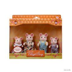 """Игровой набор """"Семья белых мышек"""" (4 фигурки)"""
