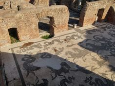 Mosaic in Ostia Antica