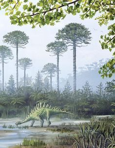 The Jurassic Period (200 to 145 million years ago) in what is now North Yorkshire, England by Richard Bizley