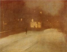 James McNeill Whistler, Nocturne in Gray and Gold, Snow In Chelsea, 1876