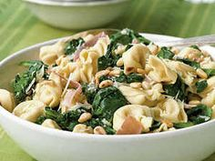 Dress up pasta night with a hearty bowl of fresh cheese tortellini, porscuitto and spinach tossed in a simple homemade sauce. Ready in 20 minutes!