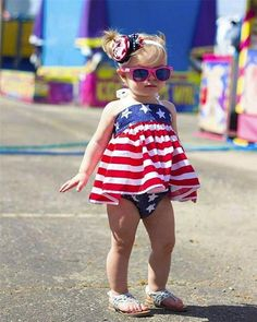 829ba9d7f76 Baby Girl American Flag Dress and Diaper Cover