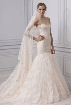 Vestido de noiva cor-de-pêssego: a minha escolha de hoje - by Monique Lhuillier 2013