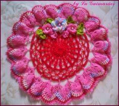 Artesanato com amor...by Lu Guimarães: Centro de Mesa com Flores
