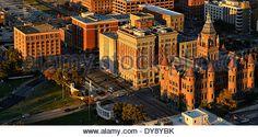 North America, Texas, USA, United States, America, Dallas, Dealey Plaza, JFK, Kennedy, sixth floor museum - Stock Photo