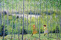 """""""Anne of Green Gables jigsaw puzzle illustrations by Takumi Isao(I think) Wish I had these in higher res"""" Manga Illustration, Illustrations, Landscape Illustration, Anne Green, Anne Auf Green Gables, Road To Avonlea, Anne Shirley, Kindred Spirits, Prince Edward Island"""