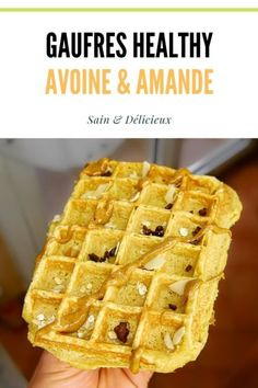 Oatmeal & Almond Waffles (No Added Sugar)-Gaufres Avoine & Amande (Sans Sucres Ajoutés) Oatmeal and powder waffles … - Breakfast Casserole With Biscuits, Healthy Breakfast Casserole, Healthy Muffins, Healthy Smoothies, Smoothie Recipes, Healthy Snacks, Healthy Breakfast Meal Prep, Make Ahead Breakfast, Dinner Healthy
