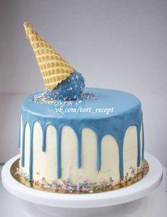 Цветная глазурь для подтеков на торте