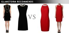 Dresses with pearls. Little black dress with a stunning back or seductive red?  /Suknie z perłami. Mała czarna z przepięknym tyłem czy kusząca czerwień?  http://glamstorm.com/en/clothes/details/id/7392 http://glamstorm.com/en/clothes/details/id/7385
