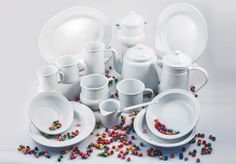 Plain tableware set - 9543