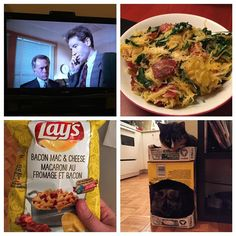 #PMPoison Relaxing with some spinach and bacon spaghetti squash for dinner X-Files episode tasty snacks and kitty love #WeBeTEST #meetyourmakers #bunkboxes by geek.glass