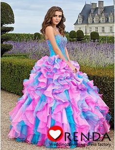 Charmming Amazing Sweetheart Purple and Pink Ball Gown Rainbow Formal Pageant Quinceanera Dresses 2013 New Fashion Orenda | $185.00