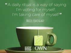 What's your favorite daily ritual? #steepyoursoul