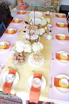 pretty table scape {intimate bridal shower}