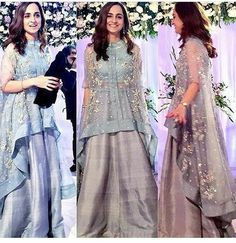 get this look DM or Whatsapp on 9920029645 for details DO NOT COMMENT ON THE PICS. no urgent order, we take minimum days for making any attire. plus shipping days. 💯we work on premium fabrics and handwork only. Indian Gowns, Indian Attire, Indian Outfits, Pakistani Wedding Outfits, Pakistani Dresses, Indian Designer Outfits, Designer Dresses, Stylish Dresses, Fashion Dresses
