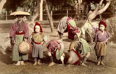 JAPANESE ACROBATS OF OLD JAPAN --- ALL SIXTEEN YEARS OLD !!! by Okinawa Soba, via Flickr