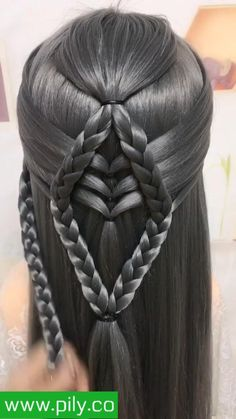 Easy Hairstyles For Long Hair, Hairstyle Ideas, Wedding Hairstyles, Cool Hairstyles, Best Hair Straightener, Hair Straightening Iron, Argan Oil Hair Treatment, Ribbon Hairstyle, Cutting Hair