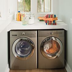 Laundry room shelving on limited space