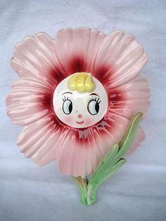 Vintage Flower Wall Pocket