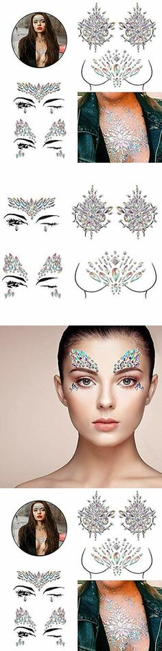 Stickers and Body Art 177768  Mydio 4 Sets Tattoo Stick Festival Rhinestone  Face Jewelry Stick On Crystal Tatt -  BUY IT NOW ONLY   13.4 on  eBay   stickers ... 24c3eebbc8e0