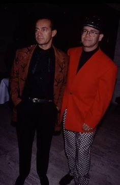 with Bernie Taupin 1992