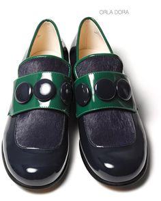 Damen Slipper mit Lackdetails aus der Orla Kiely Kollaboration, Clarks Orla Dora, 150,00 Euro: http://www.clarks.de/p/26104661