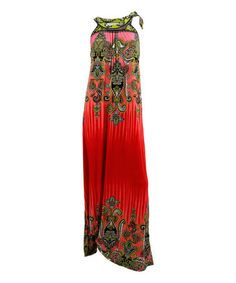 Look what I found on #zulily! Bright Red Paisley Maxi Dress - Plus #zulilyfinds