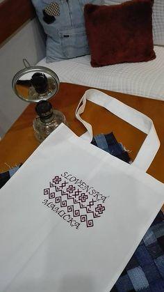 Maryval / Nákupná bavlnená taška s folklórnou výšivkou