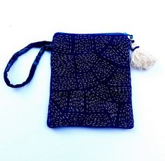 This item is unavailable Sashiko Embroidery, Japanese Embroidery, Cross Stitch Embroidery, Hand Embroidery, Japanese Quilts, Japanese Textiles, Boro Stitching, Hand Stitching, Pouch Bag