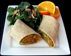 Indian Samosa Wraps whooooah really tastes like amy's somosa wrap