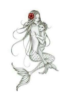 Mermaid Drawings, Mermaid Tattoos, Mermaid Art, Art Drawings, Baby Mermaid Tattoo, Mermaid Thigh Tattoo, Mermaid Tattoo Designs, Mermaid Paintings, Vintage Mermaid