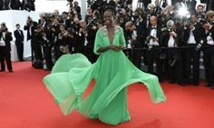 Lupita Nyong'o arrives for the opening ceremony and screening of La Tête Haute at the Cannes film festival 2015.