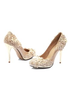 Flowers Wedding Shoes fd54091e2be4