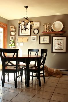 Dining Room Wall Decor picture and shelves on wall together | it all started after being