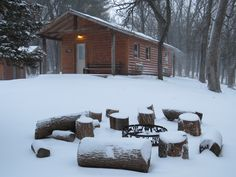 Free photo: Cabin, Snow, Winter, Campfire - Free Image on Pixabay ...