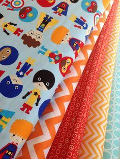 Ann Kelle Super kids Super hero quilt fabric by fabricshoppe, $25.00