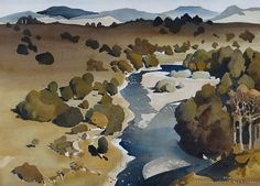 Whakapapa River, King Country Country Paintings, European Paintings, Watercolour Painting, Watercolors, New Zealand Art, King And Country, Art Market, Canvases, Traditional Art