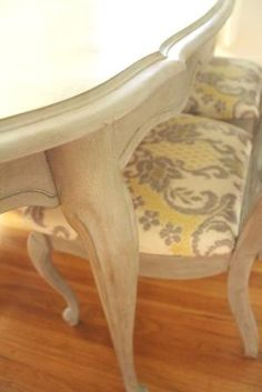 Annie Sloan chalk paint and recovered chairs gave this old table an awesome look!