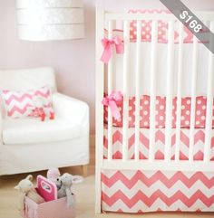 Pink polka dot and chevron.