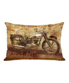 Look at this Live To Ride Rectangular Throw Pillow on #zulily today!