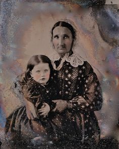 Grandmother With a Full Lap, Ambrotype, Circa 1857 by lisby1, via Flickr