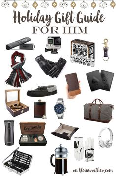 doing holiday shopping for the men on your list this holiday gift guide for him has everything he wants this year