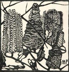 Prints & Graphics - Margaret Rose (MacPherson) Preston - Page 14 - Australian Art Auction Records Australian Wildflowers, Australian Native Flowers, Australian Artists, Linocut Prints, Art Prints, Floral Prints, Botanical Illustration, Illustration Art, Margaret Preston