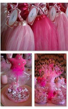 Pink Princess Birthday Party tutus and decorations! See more party planning ideas at CatchMyParty.com!