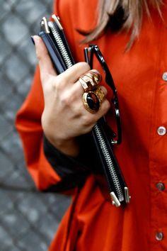 #ClareVivier #jewelry #ysl #streetstyle #streetchic