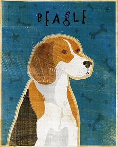 Bagle Dog Art - A whimsical rendering of a Beagle. This image is part of a series of dog breeds by digital artist John W. Golden. Other breeds are