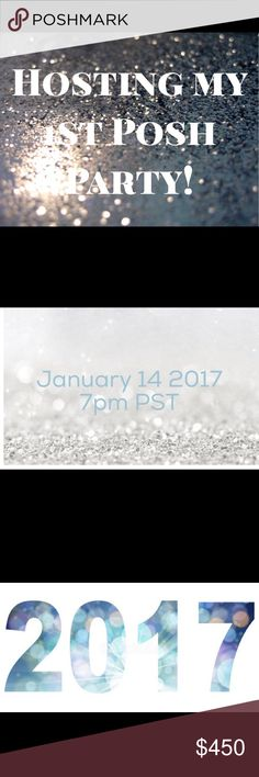 CO-Hosting Poshmark Party 🎉January 14 PM PST Happy 2017 I will be hosting my 1st  Posh Party 🎉 7pm PST co hosts @stina_b @sophisicated @burstsoffashion @alliann Theme Classic Style Party 🎉 Other