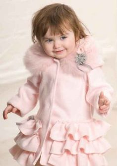 Kate Mack Stunning Winter Ruffle Coat 12 Months to 6 Years