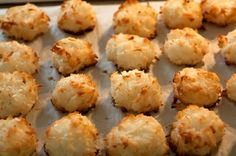 My Recipe for Gluten Free (Vegan Option) Macaroons! Gluten Free Coconut Macaroons, My Recipes, Dessert Recipes, Macaroon Recipes, Chocolate Dipped, White Chocolate, Secret Recipe, Shredded Coconut, Easy Cooking